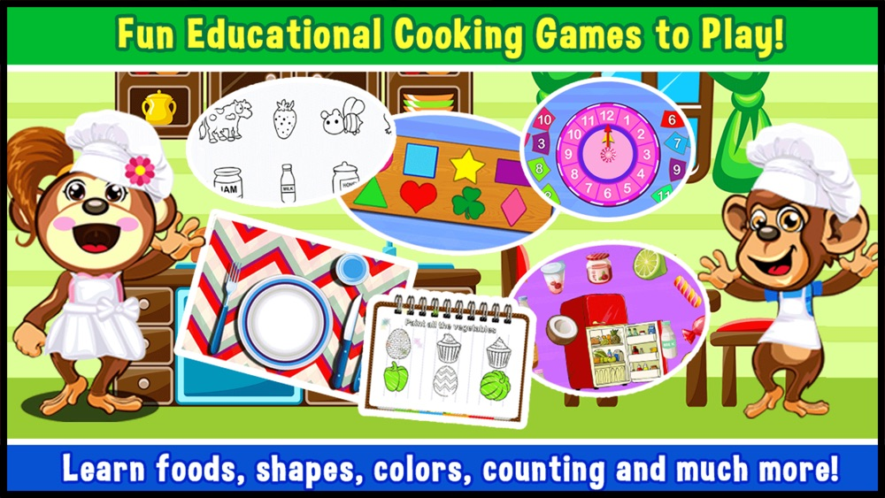 Preschool Educational Zoo Kitchen Games for Toddler   play children mini shape & alphabet learning puzzles for kids Cheat Codes