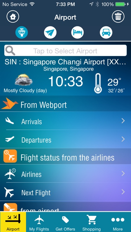 Singapore Changi Airport Pro (SIN) Flight Tracker Radar