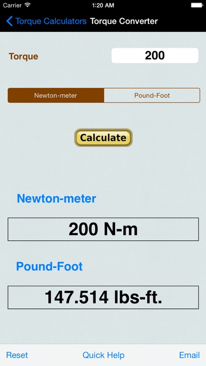 Torque Calculator & Units Converter screenshot-1