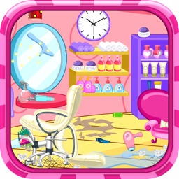 Clean up hair salon - Cleanup game