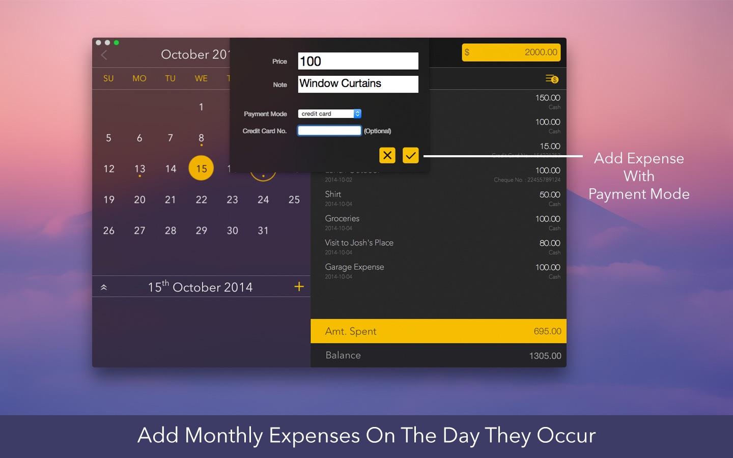 ‎Monthly Expenses on the Mac App Store