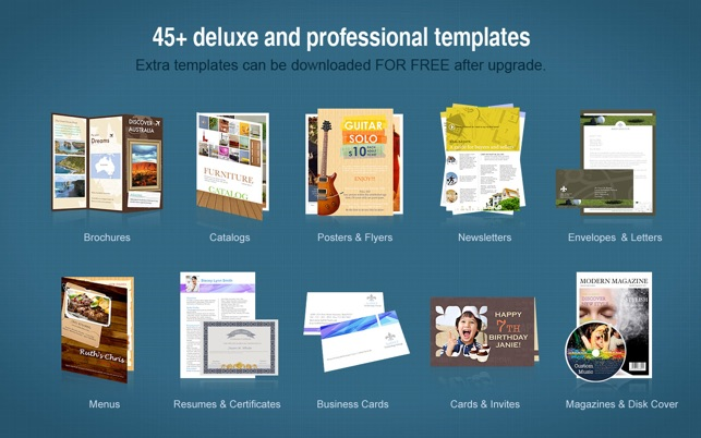 Publisher Lite On The Mac App Store - Brochure templates for mac