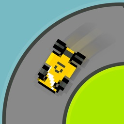 Squiggle Racer 8 Bit Old School Race Car Game