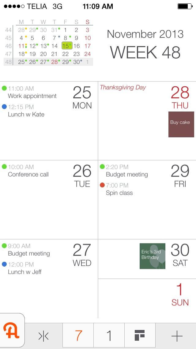 AppyCal - the happy calendar Screenshot