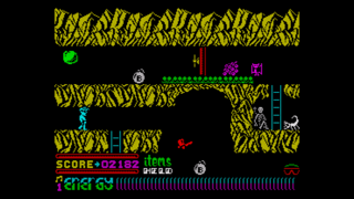 Screenshot from Dynamite Dan II (ZX Spectrum)
