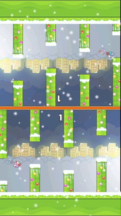 TinyFly Christmas 2014 - Xmas Flappy Racing - Multiplayer Birds Edition screenshot-1