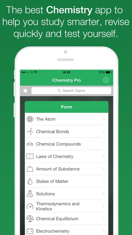 iChemistry™ - Learn, revise & test your chemistry skills