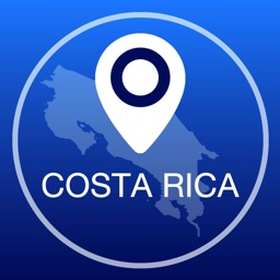 Costa Rica Offline Map + City Guide Navigator, Attractions and Transports