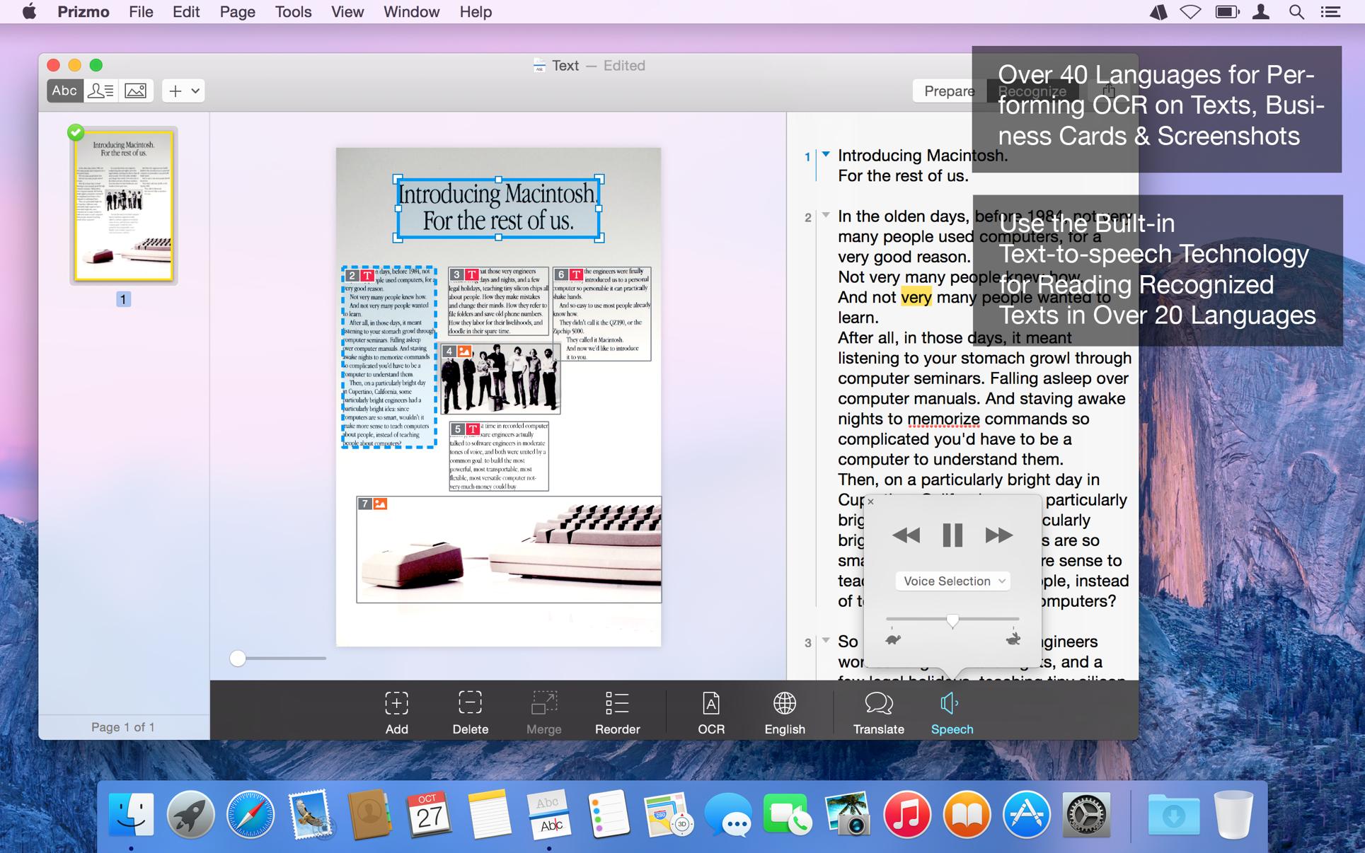 Prizmo Pro 4.0.4 Mac 破解版 光学OCR图像文字识别工具