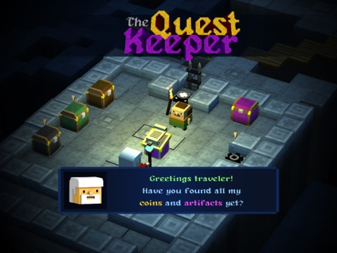 The Quest Keeper iPad app afbeelding 1