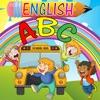 宝宝第一次英语ABC字母和带免费拼音童谣书。