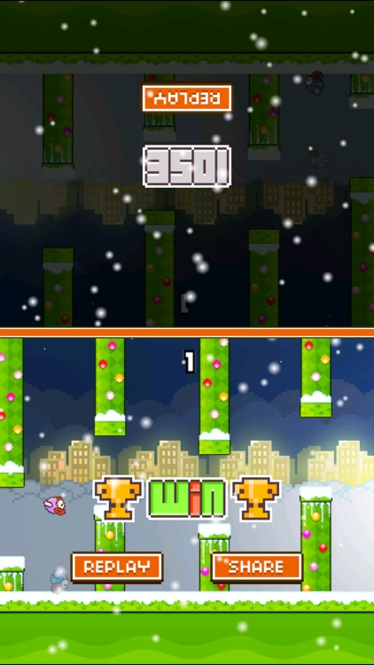 TinyFly Christmas 2014 - Xmas Flappy Racing - Multiplayer Birds Edition