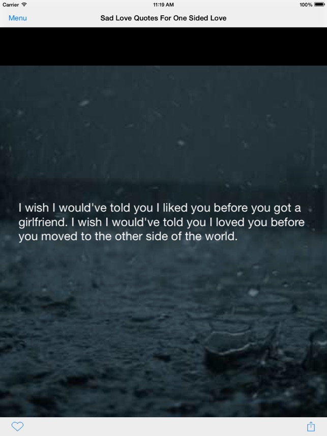 Sad Love Quotes For One Sided Love On The App Store