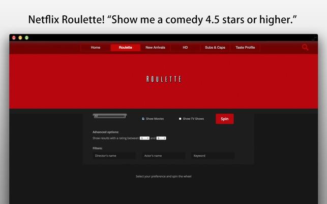 Netflix roulette app code casino bonus