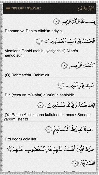 Quran-Turkish screenshot two