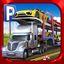 Car Transport Truck Parking Simulator - Real Show-Room Driving Test Sim Racing Games