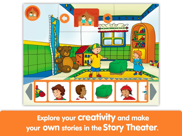 Caillou: Show and Tell by i Read With screenshot-3