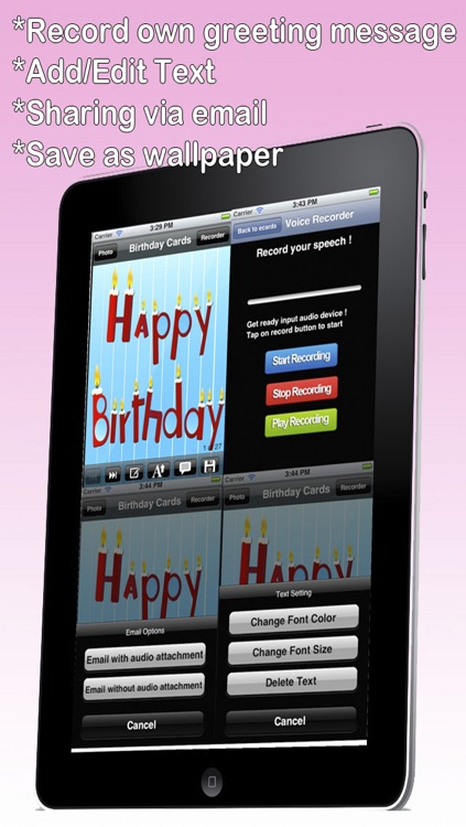 The Ultimate Happy Birthday Cards Lite Version Custom And Send Greetings ECard