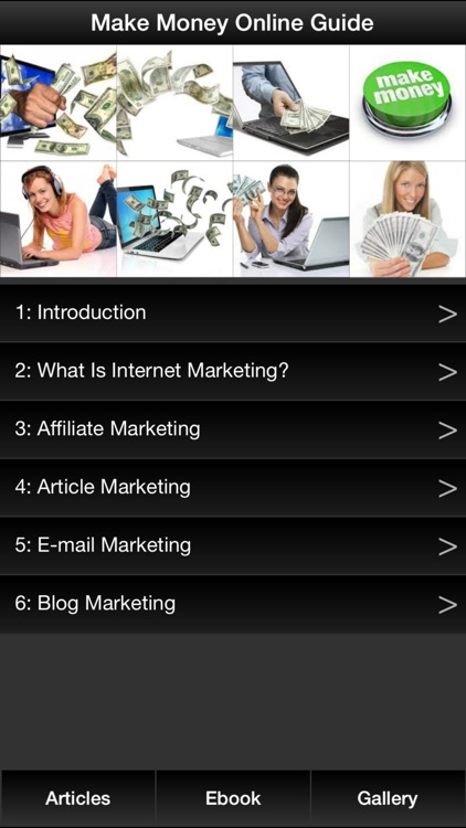 Make Money Online Guide - Learn How to Make Money Online By Internet Marketing screenshot-0