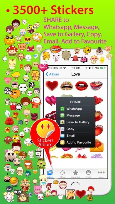Stickers Pro for iOS8 +Emoji Keyboard & Emoji Artのおすすめ画像2