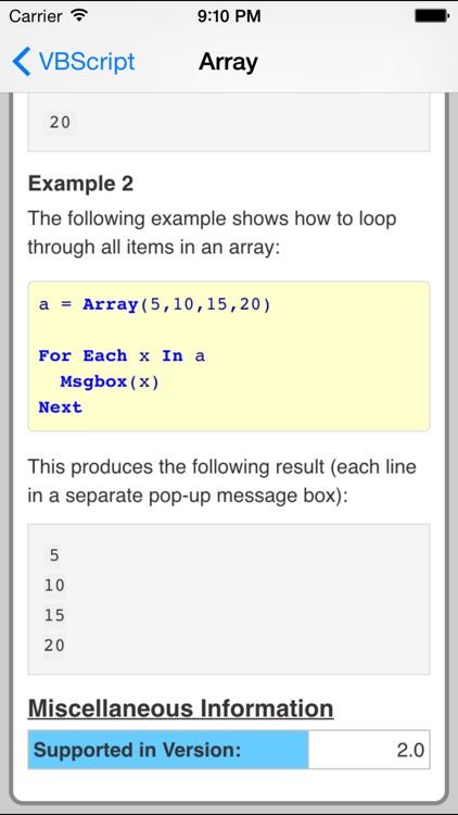 VBScript Pro FREE screenshot-3