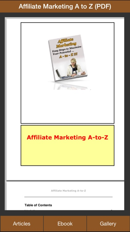 Affiliate Marketing A to Z - Easy Step to Maximize Your Potential On Affiliate Marketing