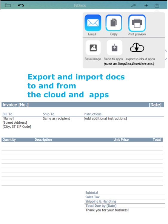 WDocs - Microsoft Office Word doc docx Edition & Open Office Document Edition screenshot-4