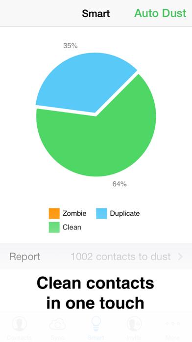 Contacts Duster - 超簡単連絡帳クリーニングツールのスクリーンショット1