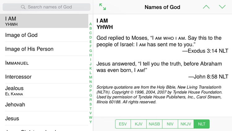 Names of God from The Bible