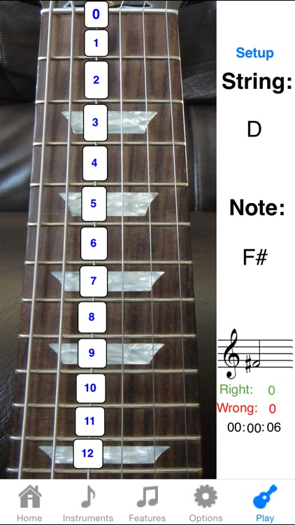 Electric Guitar Fretboard Addict FREE screenshot-1