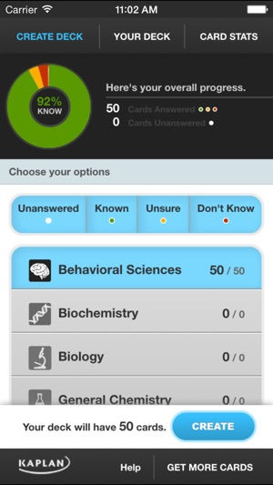 MCAT® Flashcards by Kaplan Test Prep on the App Store
