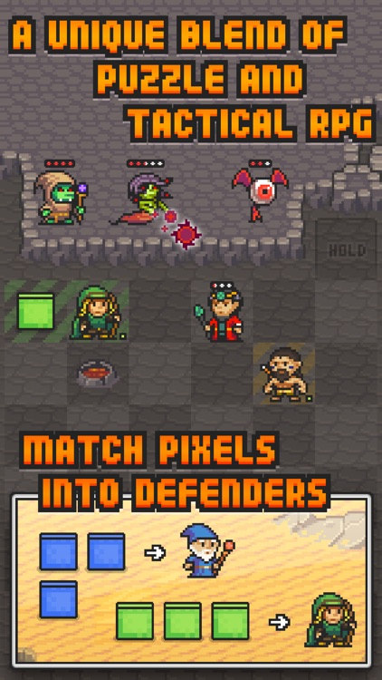Pixel Defenders Puzzle screenshot-1