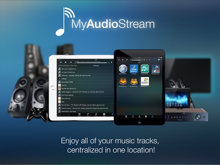 MyAudioStream HD Lite UPnP audio player and streamer for iPad