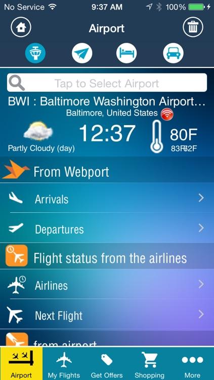 Baltimore Washington Airport Pro (BWI/DCA/IAD) Flight Tracker Premium radar