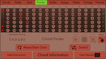 Screenshot for Guitarist's Reference in Greece App Store