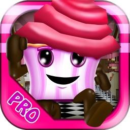 3D Cupcake Girly Girl Bakery Run Game PRO