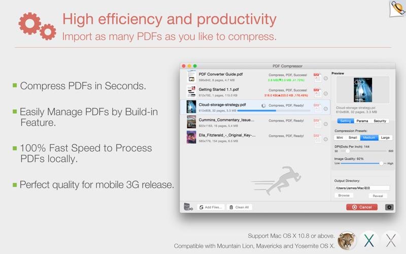 PDF Compressor by Feiphone Screenshot