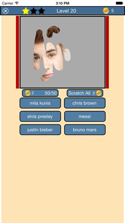 Scratch That Celebrity Quiz