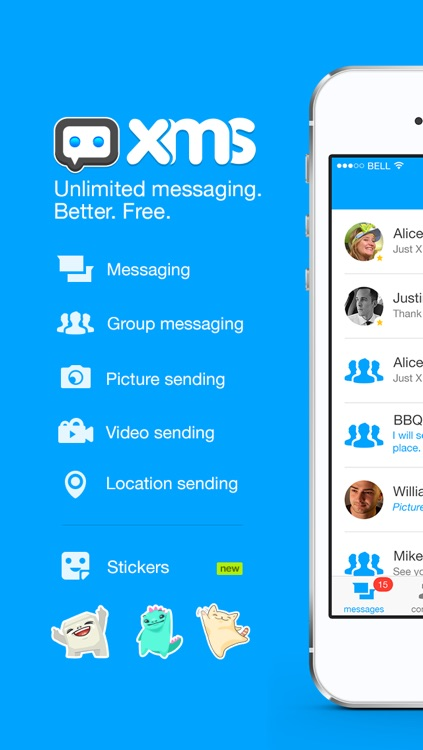 XMS - Unlimited messaging.