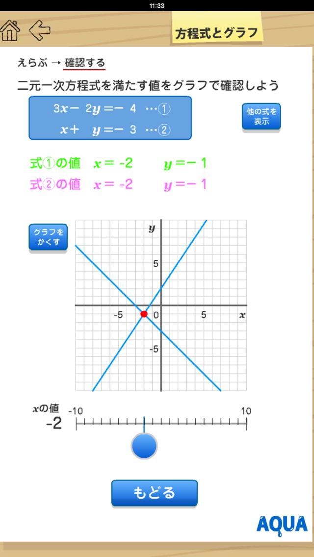 方程式とグラフ さわってうごく数学「AQUAアクア」のおすすめ画像4