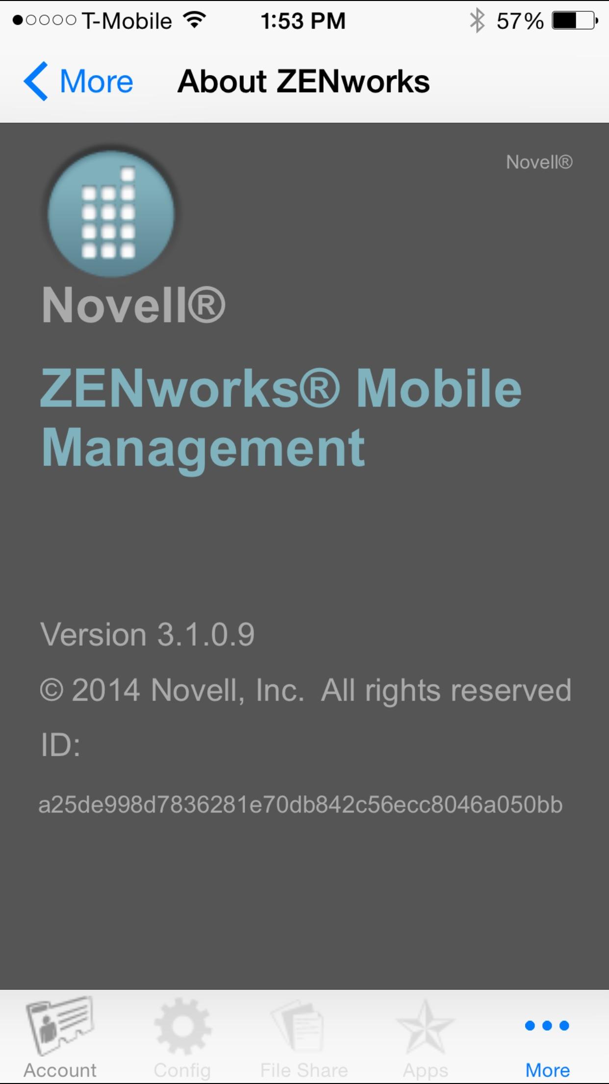 ZENworks Screenshot