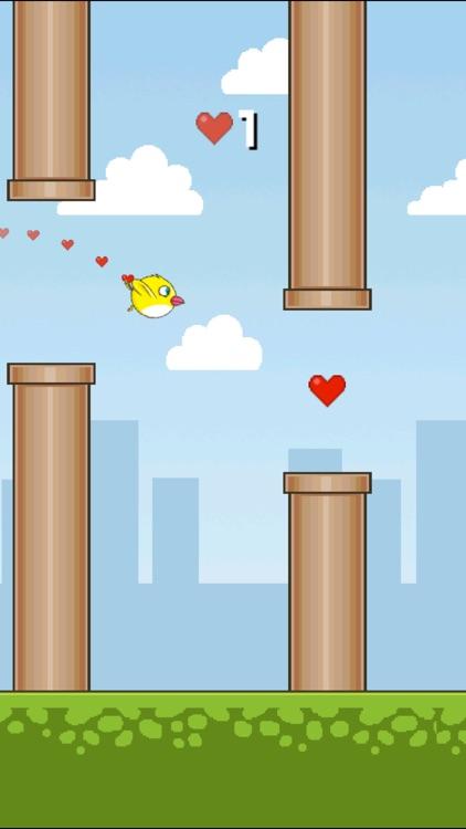 Tiny Flappy Love Bird - A clumsy little bird's endless adventure screenshot-4