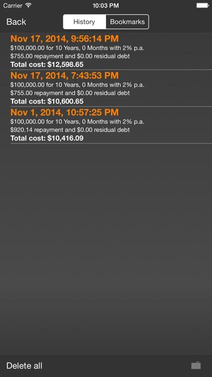 MobileLoan Calculator screenshot-4