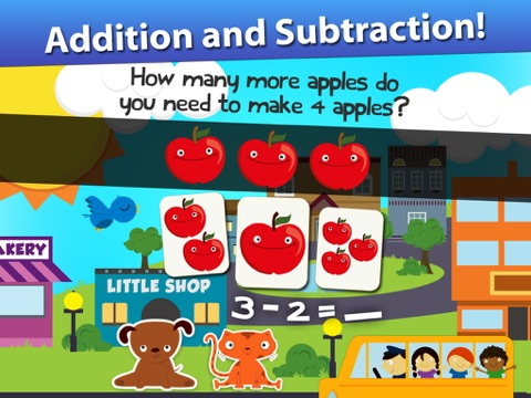 Screenshot #2 for Animal Math Games for Kids in Pre-K, Kindergarten and 1st Grade Learning Numbers, Counting, Addition and Subtraction Premium