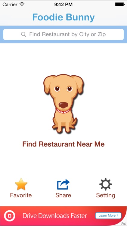 Foodie Bunny - Find Restaurants Near Me