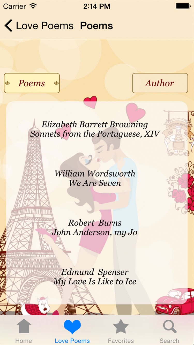 Love Poems - The Most Romantic Poems for Lovers and Couples Screenshot