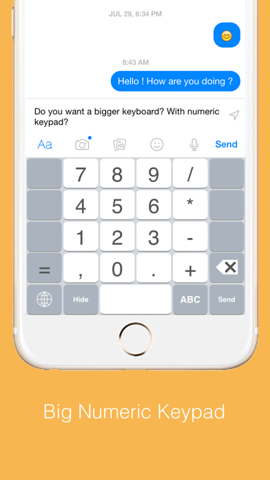 Highlighted Keyboard - Extra large Keyboard with next key hints screenshot four
