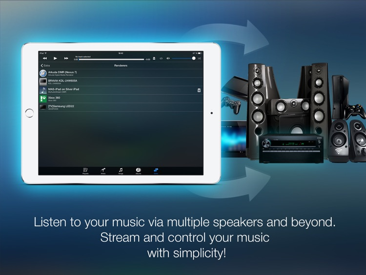 MyAudioStream HD Pro UPnP audio player and streamer for iPad screenshot-3