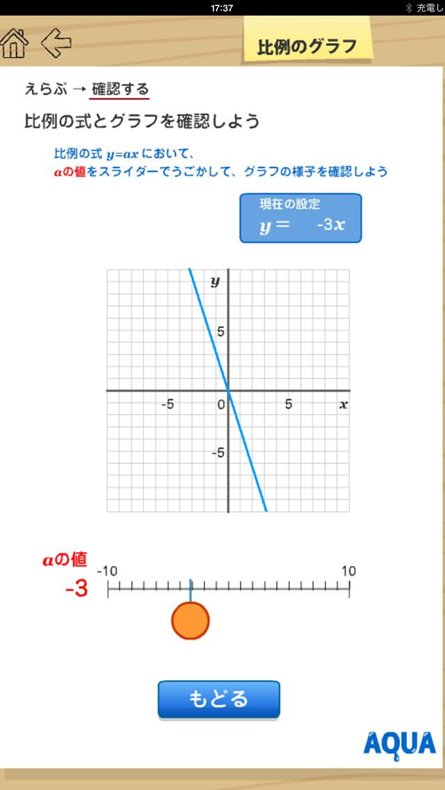 比例のグラフ さわってうごく数学「AQUAアクア」のおすすめ画像4