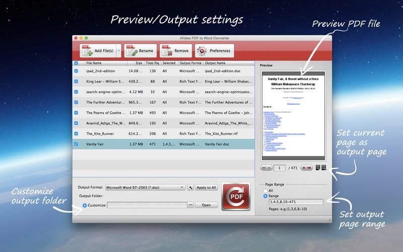 4Video PDF to Word Converter